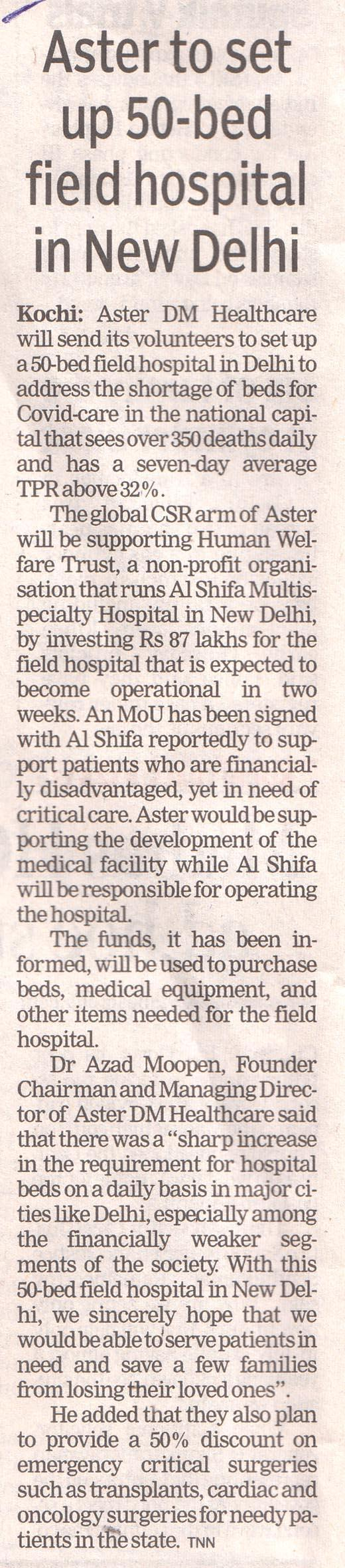 30 04 2021 The Times Of India Pg 02
