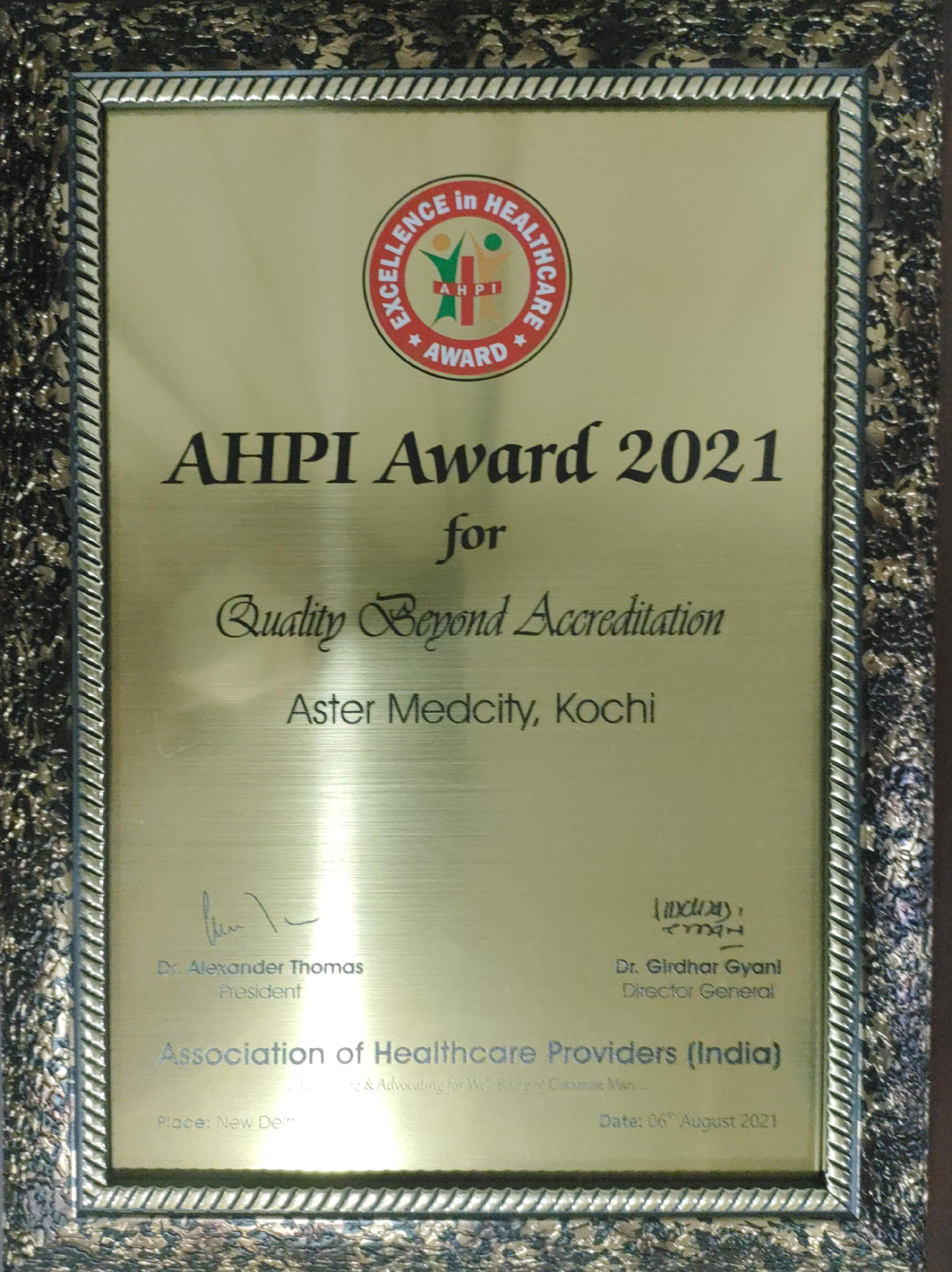 AHP Quality beyond accredation